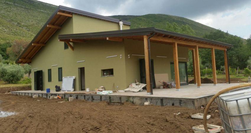 Casa prefabbricata legno chieti casa ecolegno - Fasi di costruzione di una casa ...