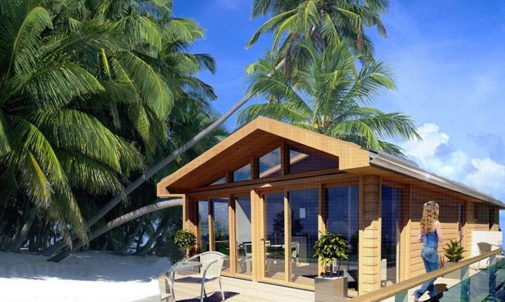 Case mobili bungalow case su ruote casa ecolegno for Casa prefabbricata 40 mq