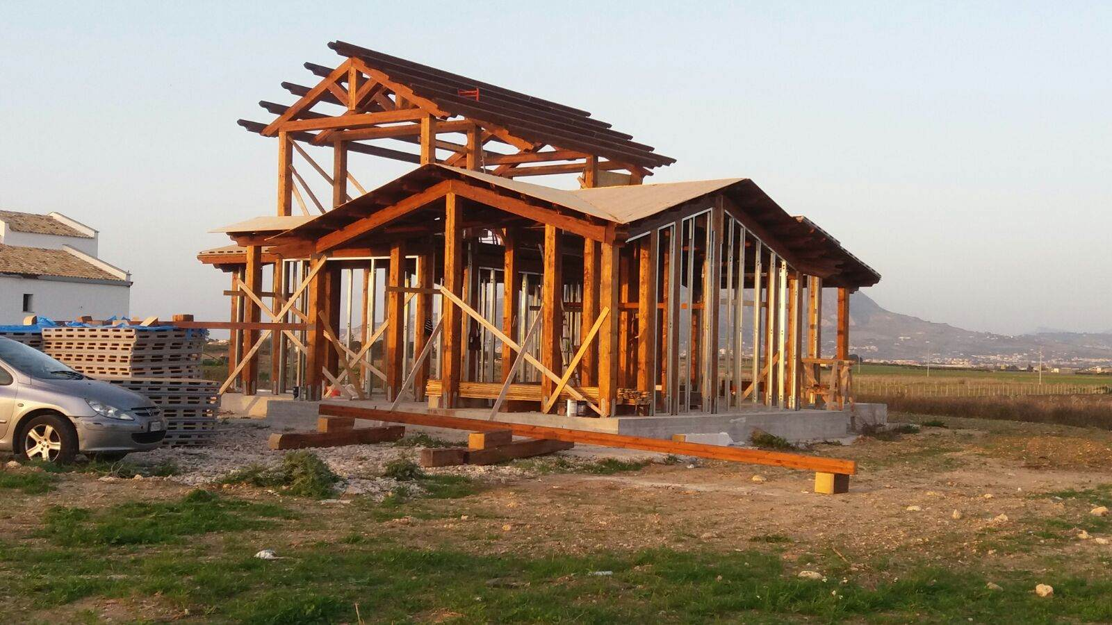 Casa prefabbricata legno trieste casa ecolegno - Fasi di costruzione di una casa ...